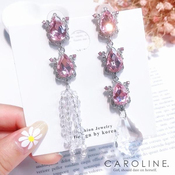 《Caroline》★韓國熱賣造型時尚 Bling  Bling 絢麗閃亮動人耳環70491
