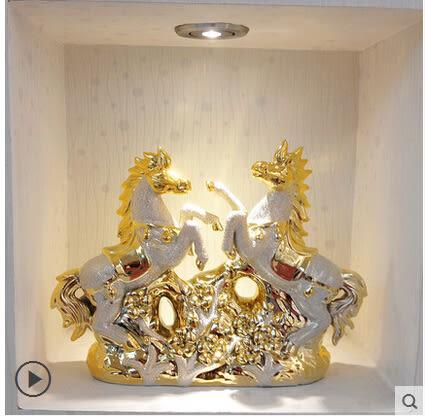 歐式陶瓷瑪家居裝飾擺件客廳現代簡約餐廳酒店工藝品結婚禮品