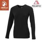 【Wildland 荒野 女 P/G體表舒適調節機能衣《黑》】P2661/中層衣/衛生衣/排汗衣/保暖