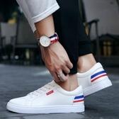 男鞋新款小白鞋男百搭學生休閒板鞋白色潮流透氣鞋子男潮鞋【快速出貨】