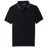 AX阿瑪尼針織短袖Polo(深藍色)