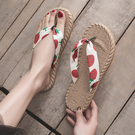 涼拖人字拖鞋女外穿平底可愛度假沙灘鞋女拖鞋海邊夾腳錢夫人小鋪