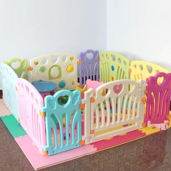 麻麻乖寶貝兒童圍欄 護欄 柵欄 門欄 遊戲圍欄10片(4大+4小+2)-0038