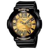 【CASIO】BABY-G 螢光霓虹懸浮時刻腕錶-黑X金(BGA-160-1B)