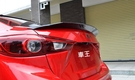【車王汽車精品百貨】 All New Mazda3 全新馬3 馬自達3 珍珠白 大尾翼 尾翼 導流板 定風翼