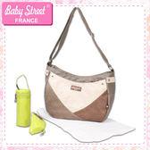 法國品牌雙色拼接肩背包/媽媽包 baby street E-BS01-A