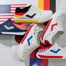 PONY ENJOY 水鞋 國旗 世界加油 透氣 洞洞鞋 雨鞋 懶人鞋 涼鞋 反光LOGO 可踩 男女 (布魯克林) 02U1SA0-