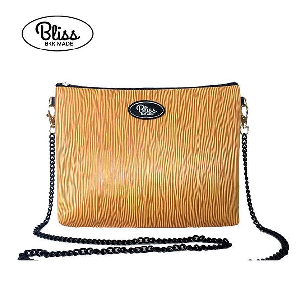【限時促銷】Bliss BKK包 經典直條紋黃 可肩背 可手拿 泰國必買