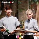 服務員服裝酒店工作夏裝男女咖啡店餐飲衣服西餐廳制服工作服短袖