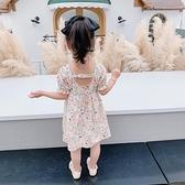 兒童洋裝 女童洋裝夏純棉2020年夏季公主洋氣小童碎花寶寶露揹裙子泡泡袖