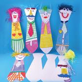 【BlueCat】兒童DIY繪畫親愛家人領帶造型掛飾材料包