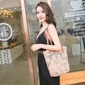 海灘包收納袋 蕾絲包女新款手提包購物袋韓國沙灘包復古刺繡單肩包女包手袋 歐萊爾藝術館