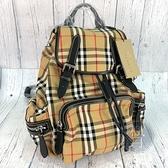 BRAND楓月 BURBERRY 4076747 經典格紋 後背包 輕便後背 大容量 書包