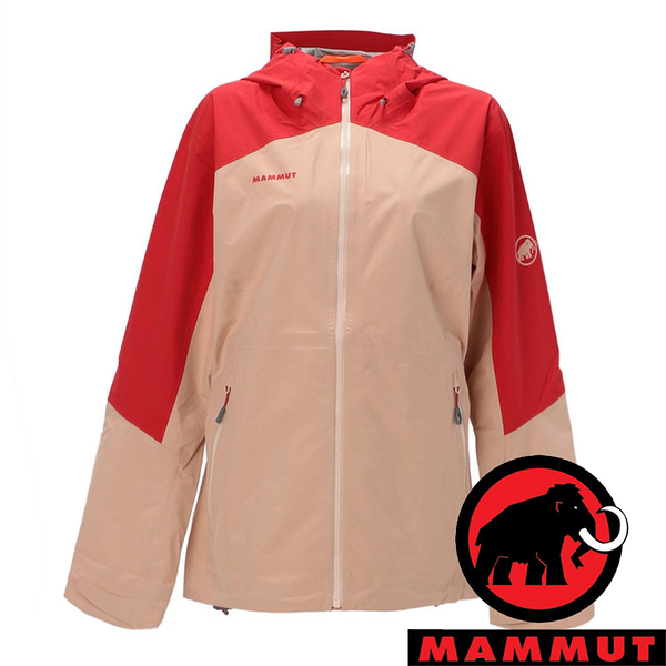 【MAMMUT 長毛象】Convey女GT單件式連帽外套『日落紅/夕沙粉』1010-28800 外套 羽絨 保暖 禦寒