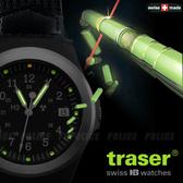 丹大戶外【Traser】皮製錶帶 / 軍錶 / 綠光 #100203
