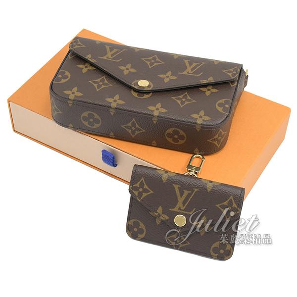 茱麗葉精品【全新現貨 】Louis Vuitton LV M80091 Félicie Strap & Go 經典花紋迷你二合一斜背包 現貨