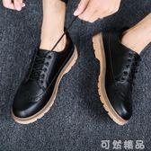 夏季新款韓版防水防滑英倫風皮鞋男鞋馬丁鞋休閒鞋工裝鞋潮流鞋子