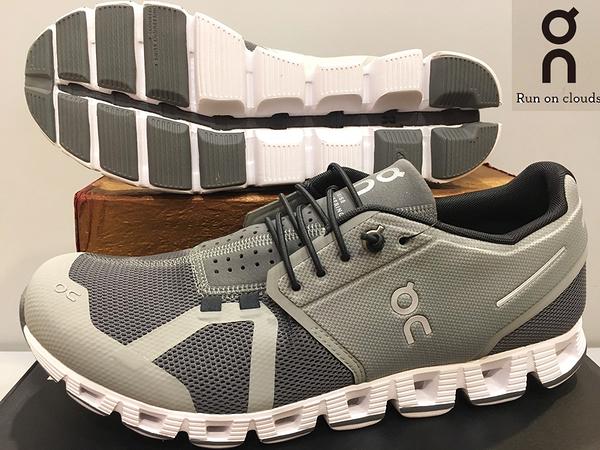 ON 瑞士品牌 超輕量(198克) 跑鞋/運動鞋 透氣快乾~Slate/Rock 淡漠灰 (男) 買就送魔術棉巾