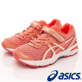 【ASICS】運動童鞋-流線透氣粉橘運動款-C620N-7601-粉橘-中童-0