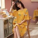 長頸鹿印花家居服洋裝-大尺碼 獨具衣格 J3710