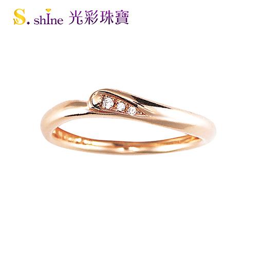 【光彩珠寶】婚戒 日本18K金結婚戒指 女戒 玫瑰真心