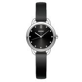 SEIKO 精工 手錶專賣店 SUR699P1 經典氣質女錶 皮革錶帶 施華洛世奇 鋼琴黑 防水50米