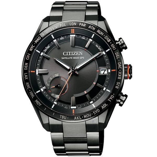 CITIZEN星辰GPS衛星對時鈦金屬手錶 CC3085-51E