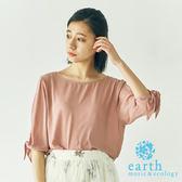 ❖ Hot item ❖ 接觸涼感袖綁結設計雪紡上衣 - earth music&ecology