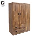 【多瓦娜】MIT日式工業-集成4X6三抽衣櫃-18048-WA2T