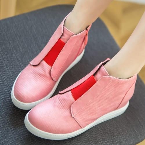 【35-43全尺碼】內增高.復古刷色內增高透氣楔型包鞋.白鳥麗子
