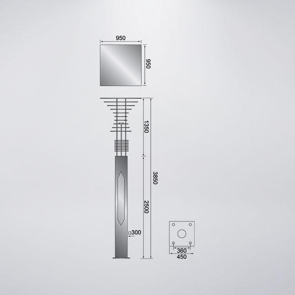 漸層式戶外景觀燈 防水型 可客製化 可搭配LED