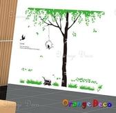 壁貼【橘果設計】林蔭 DIY組合壁貼/牆貼/壁紙/客廳臥室浴室幼稚園室內設計裝潢