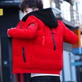 青少年加厚棉服潮冬季青年保暖連帽外套中學生棉衣男立領防寒棉襖 優樂居