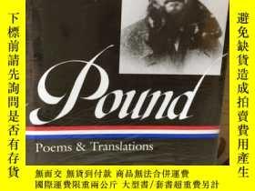 二手書博民逛書店Ezra罕見Pound Poems and Translations -- 《龐德詩集及譯文》美國文庫精裝本Y