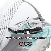 Nike 慢跑鞋 Wmns Air VaporMax Flyknit 3 白 綠 黑 女鞋 大氣墊 飛線編織 【ACS】 CT1274-100