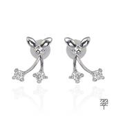 【LECRIN翠屋珠寶】優雅D:0.24克拉鑽石耳環