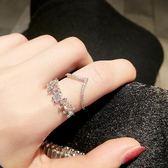戒指 開口可調節冷淡風潮尾小指個性學生戒子食指女玫瑰金