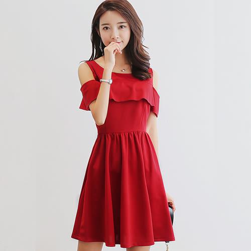 韓版顯瘦大碼時尚百搭連衣裙 0001H 彼得麗絲
