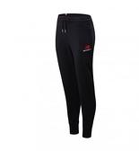New Balance 女款黑撞色右褲管LOGO刷毛棉褲-NO.AWP01508BK