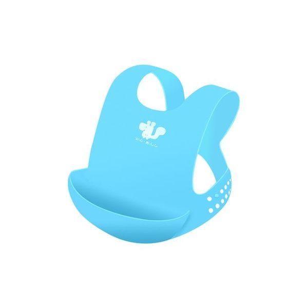 寶寶圍嘴嬰兒防水硅膠飯兜兒童吃飯圍兜立體大號小孩口水巾喂飯兜【時尚家居館】