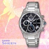 CASIO手錶專賣店 卡西歐 SHEEN SHN-5506D-1A 女錶 藍寶石玻璃錶面 碼錶 三眼設計 不鏽鋼錶帶