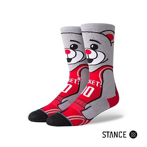 【STANCE】CLUTCH THE BEAR-男襪-休閒襪-休士頓火箭熊設計款(M545D18CLU RED)