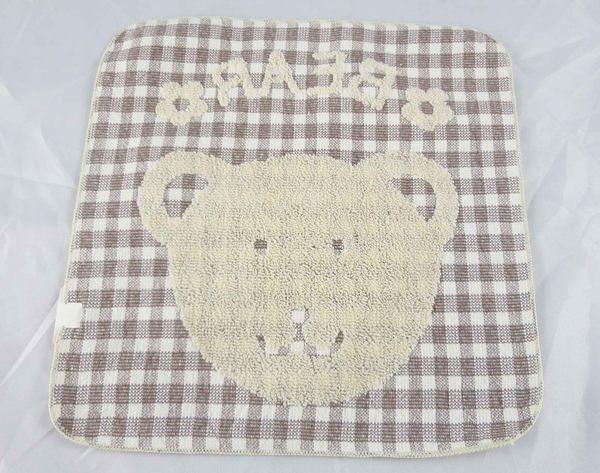 【震撼精品百貨】日本泰迪熊~方巾『格紋-臉』