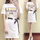 $288出清 韓國風不規則綁帶時尚短袖洋裝