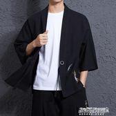 男中國風外套唐裝漢服大碼復古日繫日式和風開衫和服亞麻   傑克型男館