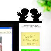 【BlueCat】Monitor第二代趣味貓頭鷹天使剪影螢幕側邊便利貼留言板 (31CM)