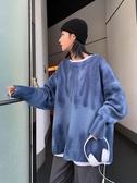 新款時尚復古秋冬毛衣女寬鬆外穿套頭慵懶風外套加厚女士毛衣  喵喵物語