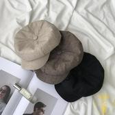 韓版帽子女復古貝雷帽休閒百搭八角帽潮棉麻日系畫家帽男【雲木雜貨】