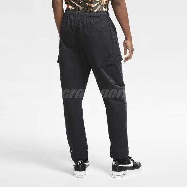 NIKE 長褲 NSW Woven Pants 黑 白 男款 縮口褲 運動休閒 【ACS】 CU4326-010