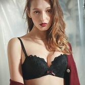 本命年紅色文胸 花系無鋼圈蕾絲性感小胸加厚內衣n484